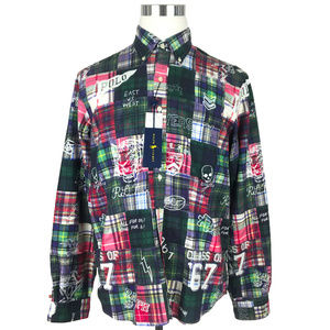 NEW Ralph Lauren Yale Shirt L Multicolor Plaid